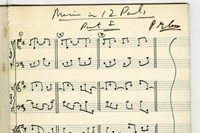 The score for Music in 12 Parts, by Philip Glass