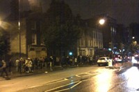 Queue at Rhythm Factory, Whitechapel