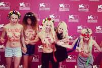 FEMEN on the red carpet at Venice Film Festival