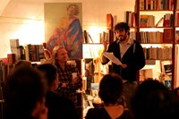 A reading at Atlantis Books. Image courtesy of Ioa
