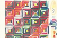 Ottavio Missoni Design for tapestry Markers on pap