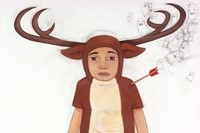 """deer"" acrylic and graphite on canvas july 06"