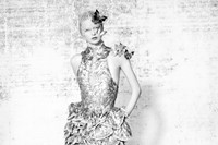 Dress and headpiece by Alexander McQueen