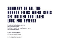 Summary of all the Horror Films