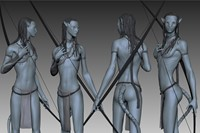 8. 3D study of Neytiri, from Avatar (2009). Photo