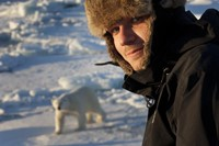 Joss Garman with Polar Bear