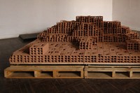 2. Ishmael Randall Week Huaca Eroded Bricks, Woode