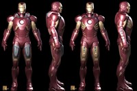 3D study of pilot suit for Iron Man (2008). Courte