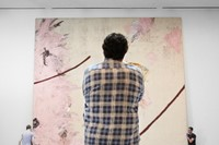 Photo of Julian Schnabel at the AGO by Ian Lefebvr