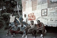 Wild Style mural with crew Tobago 1985 photo by Ch
