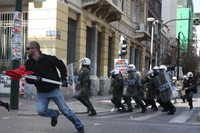 Clashes occurred as police reportedly used an aggr