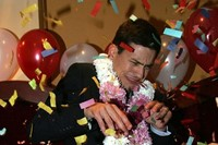 David Miliband scared of balloons