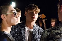 Casely-Hayford SS15 Mens collections, Dazed backstage