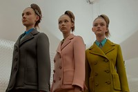Prada AW15, Dazed backstage, Milan, Womenswear, suit, pastel