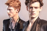 Roberto Cavalli SS15 Mens collections, Dazed backstage