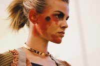 Vivienne Westwood AW15 womenswear backstage Dazed rebel war