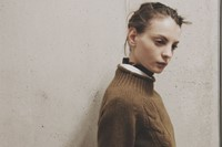 Margaret Howell AW15 Womenswear Cable Knit White Shirt