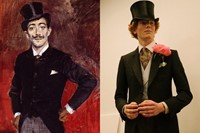 LCM London menswear art collages DUNHILL