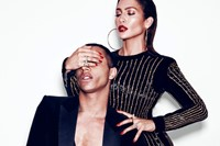 Olivier Rousteing and Jennifer Lopez