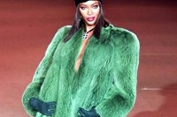 Naomi Campbell at YSL retrospective, 2002