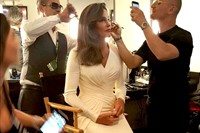 Caitlyn Jenner getting ready for the ESPY Awards