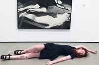 with 'Horizontal Woman' by John Baldessari (1987)