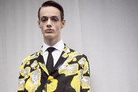 Dior Homme AW15 floral yellow coat, Mens, Dazed backstage