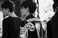 Diesel Black Gold SS15 Mens collections, Dazed backstage