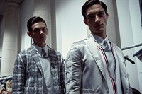 Moncler Gamme Bleu SS15 Mens collections, Dazed backstage