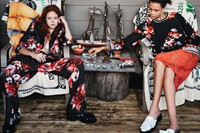 Natalie Westling and Binx Walton wear MSGM AW14