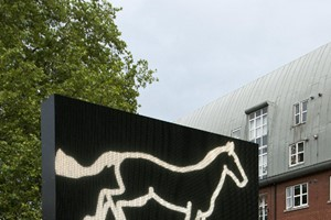 Julian Opie Galloping horse., 2012 LED double side
