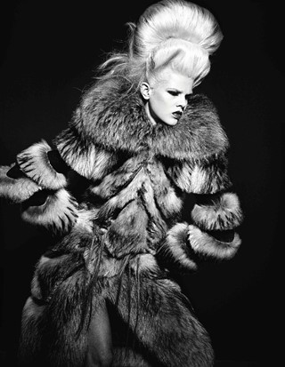 Fur coat by Viktor & Rolf, Photography Richard Bur