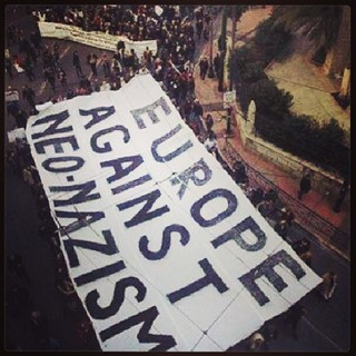 Banner at Athens protest @imigrantkapank