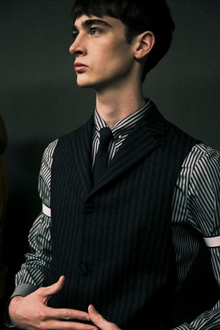 Backstage at ZZegna AW14