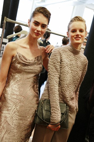 Backstage at Jason Wu AW14