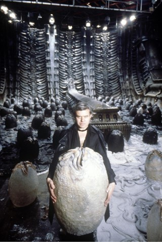 hr giger on set via ravepad wordpress dot com