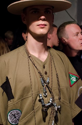 Liam Hodges SS15 Mens collections, Dazed backstage