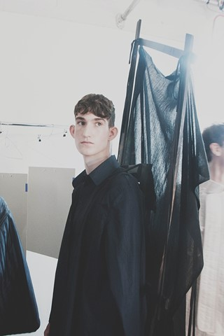 Craig Green SS15 Mens collections, Dazed backstage