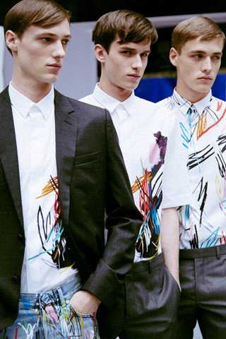 Dior Homme SS15 Mens collections, Dazed backstage