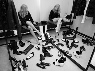 "Still from Karl Lagerfeld's ""Fitting Room Follies"""