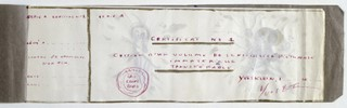 Yves Klein Checkbook: Certificate No. 1, assignme