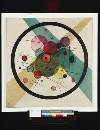 2. Wassily Kandinksy  Circles in a Cirle, 1923,