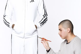 Dazed, DIS takeover Adidas the art school tracksuit