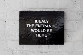 Laure Prouvost, Ideally the entrance would be here