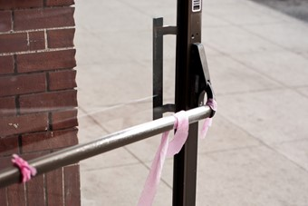 Lusty Lady Door Pink Ribbon