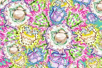 KIT NEALE WRAPPING PAPER FOR DAZED DIGITAL XMAS 13