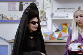Diane Pernet and Fred Butler