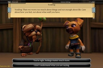 2 - A screenshot of Trip Hawkins' new game, IF