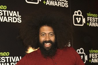 Reggie Watts opened the Vimeo Festival with an ent