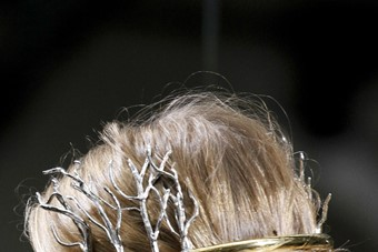 Balenciaga mythological headpieces